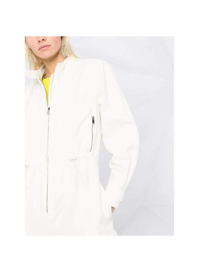 Full Length Jumpsuit in Cotton Linen in Cream