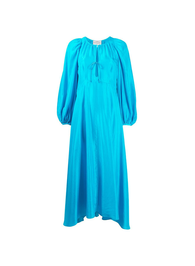 Long Dress with Puff Sleeve
