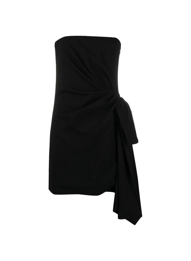 Strapless Mini Dress with Side Tie
