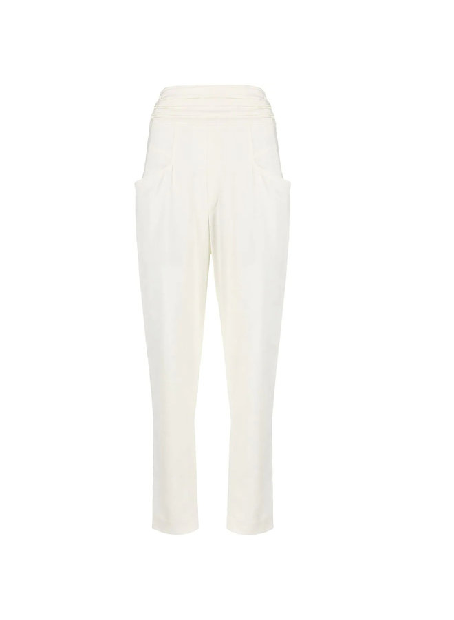 High Waisted Pants in White