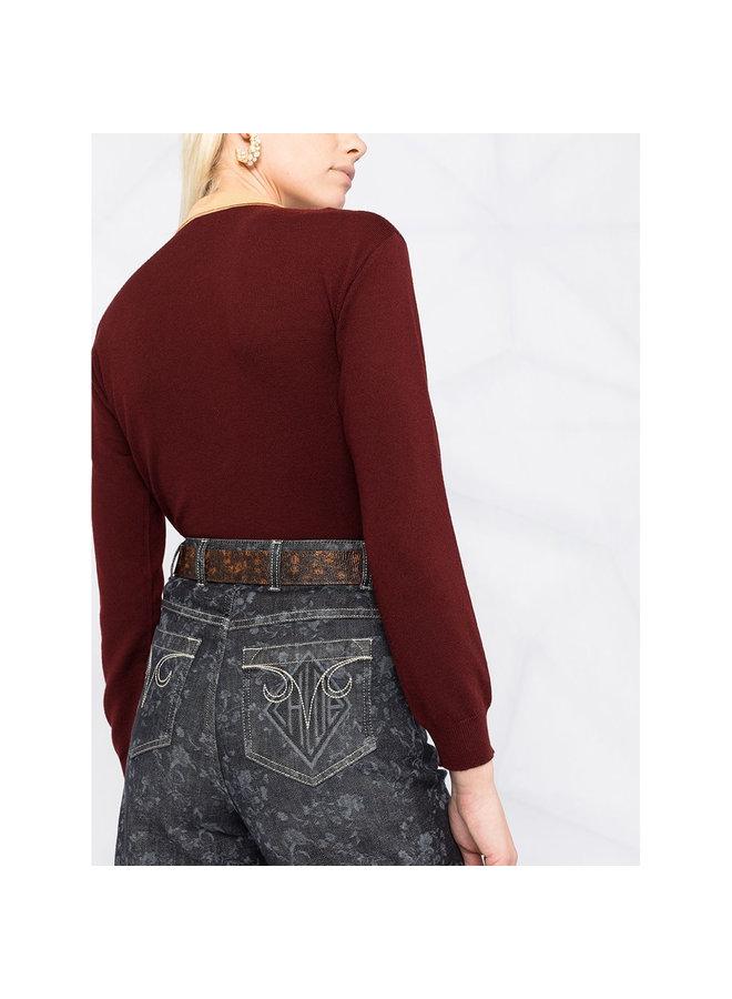 Denim Shorts in Floral Print in Grey