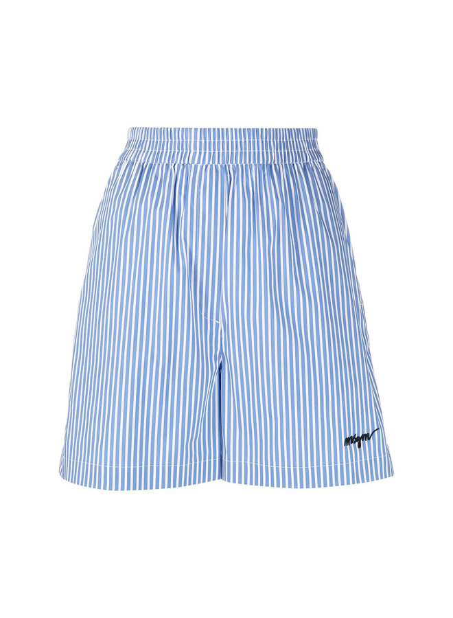 Elasticated Shorts in Stripped Print