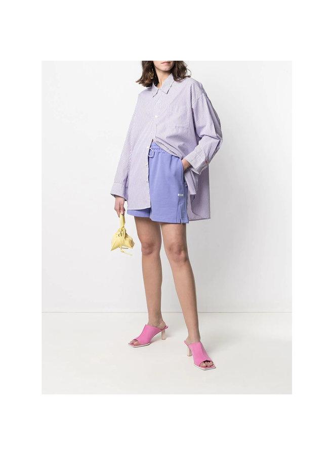 Logo Track Shorts in Cotton in Purple