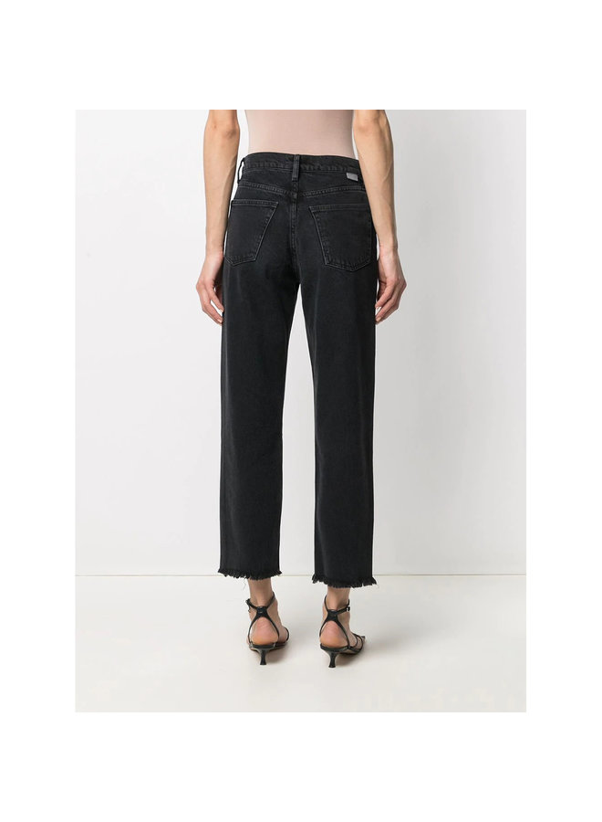 The Tommy High Waist Distressed Jeans in Faded Black