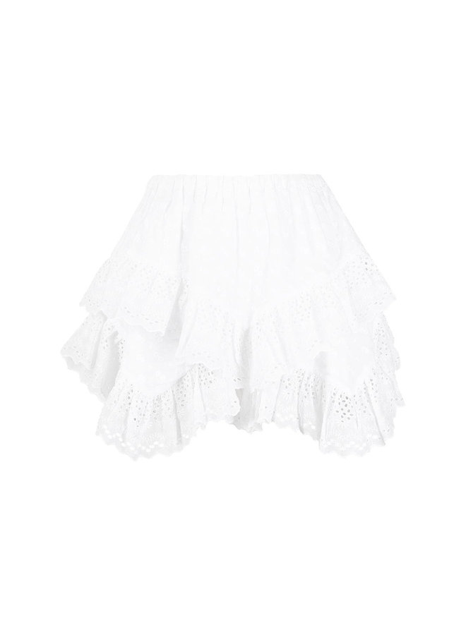 Shorts in Broderie Anglaise