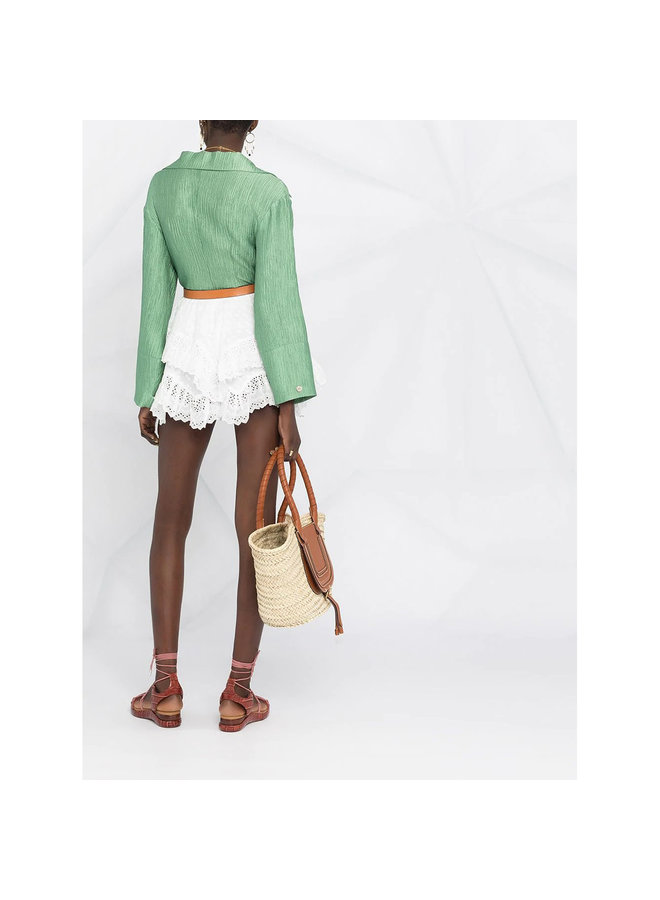 Shorts in Broderie Anglaise in Cotton in White