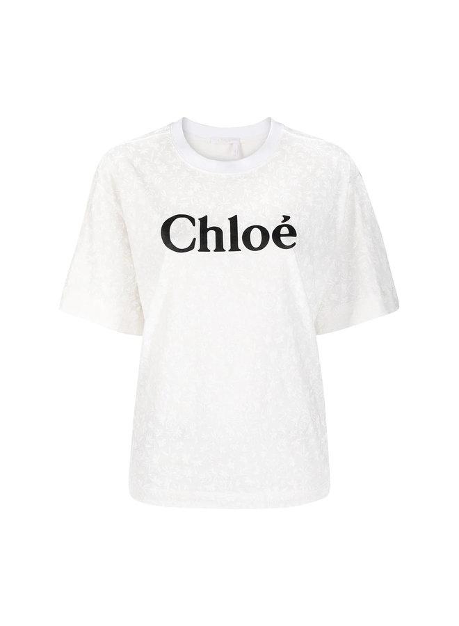 Logo T-shirt in Cotton in White