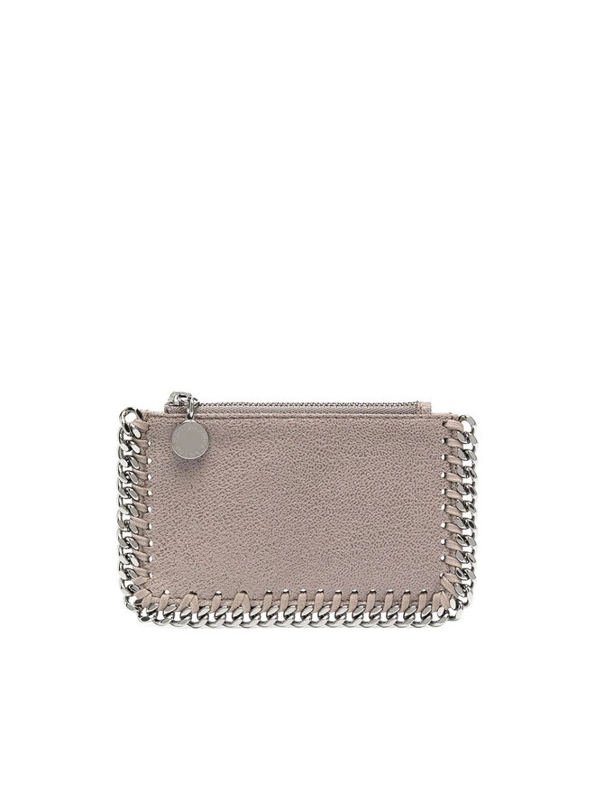 Falabella Card Holder in Grey