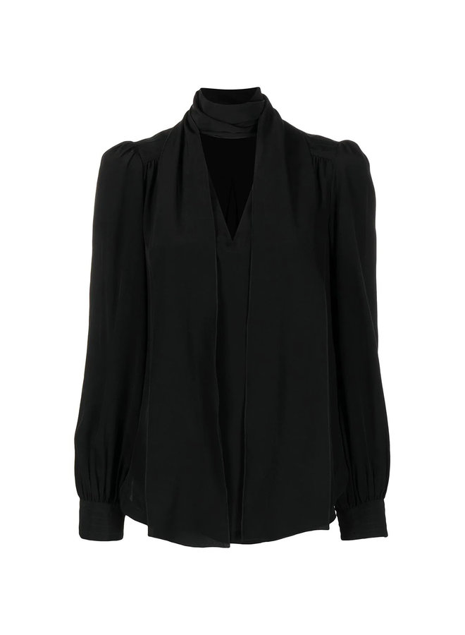 Tie Up Neckline Blouse