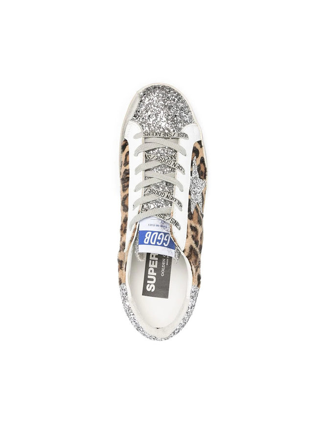 Superstar Low Top Sneakers in Leopard Print