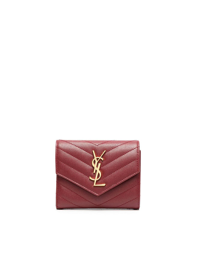 Monogram Flap Wallet