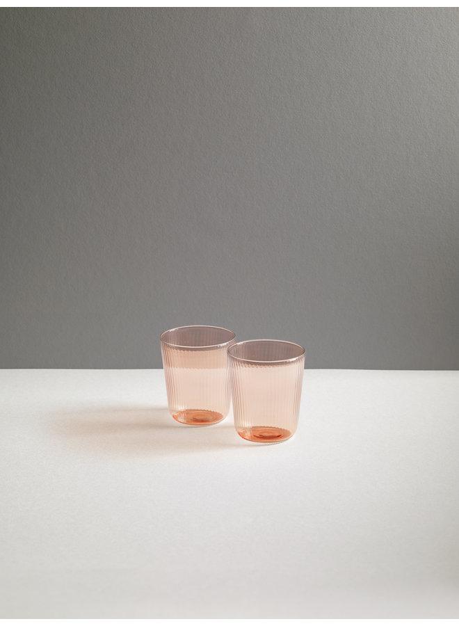 Luisa Calice Short Glassware in Cameo Pink