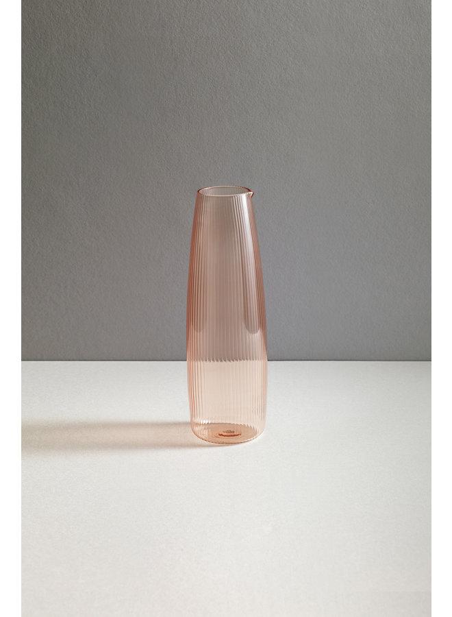 Luisa Carafe 1L Glassware in Cameo Pink