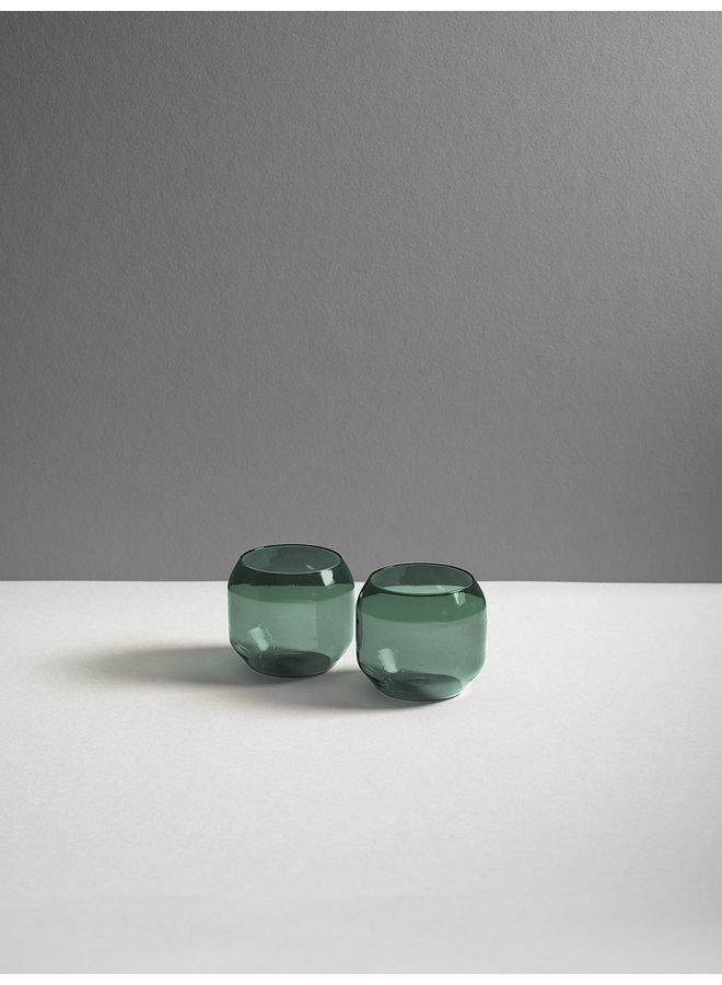 Velasca Aqua Glassware in Slate Green