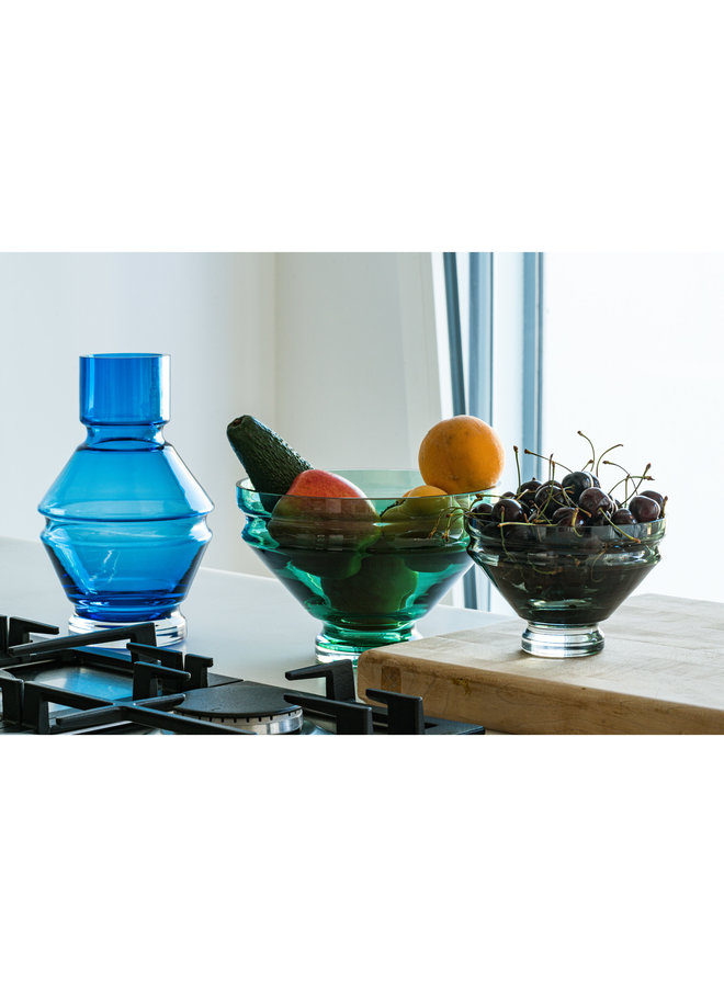 Nicholai Wiig-Hansen Relæ Small Glass Bowl in Cool Grey