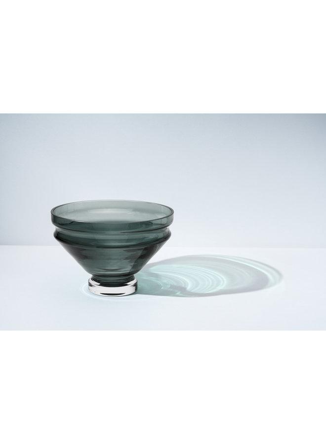 Nicholai Wiig-Hansen Relæ Large Glass Bowl in Cool Grey