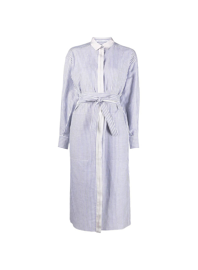 Long Stripped Shirt Dress