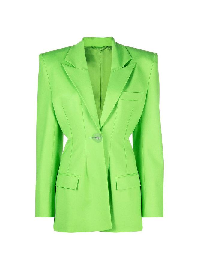 Structured Fitted Blazer Jacket