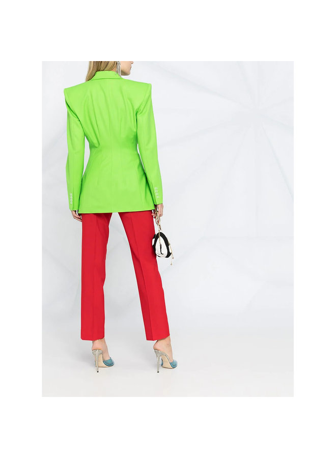 Structured Fitted Blazer Jacket in Green