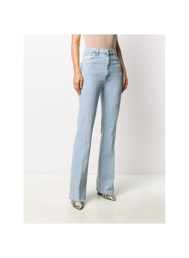 Mid Rise Straight Leg Jeans in Light Blue