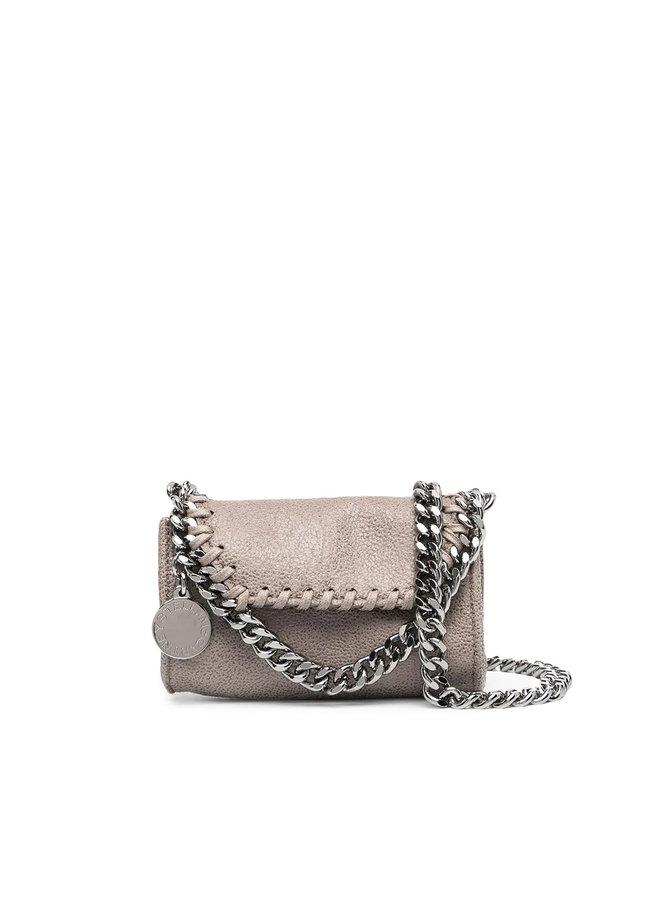 Micro Falabella Crossbody Bag in Grey