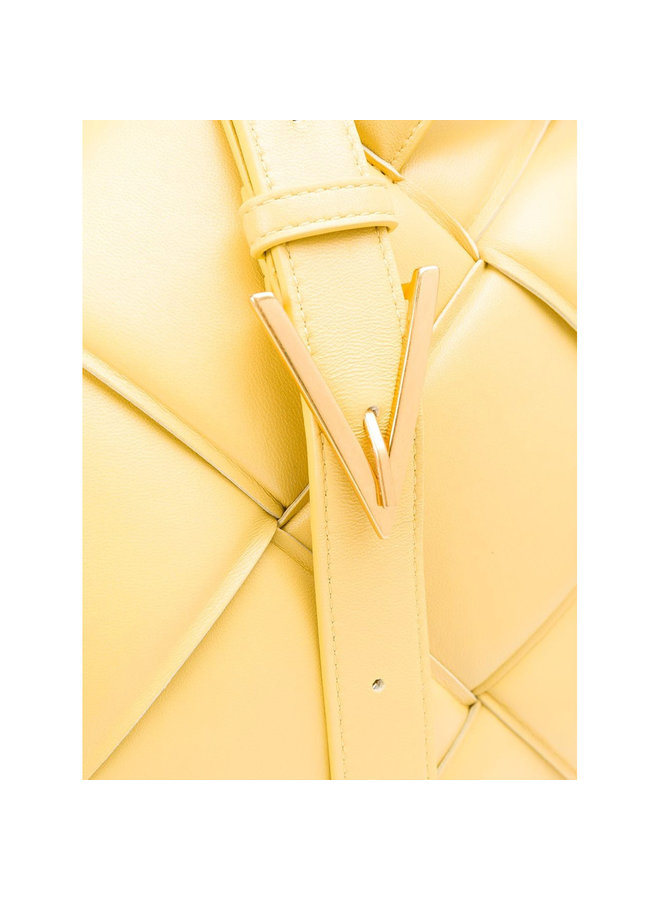 Top Handle Bag in Padded Intrecciato Leather in Corn Yellow
