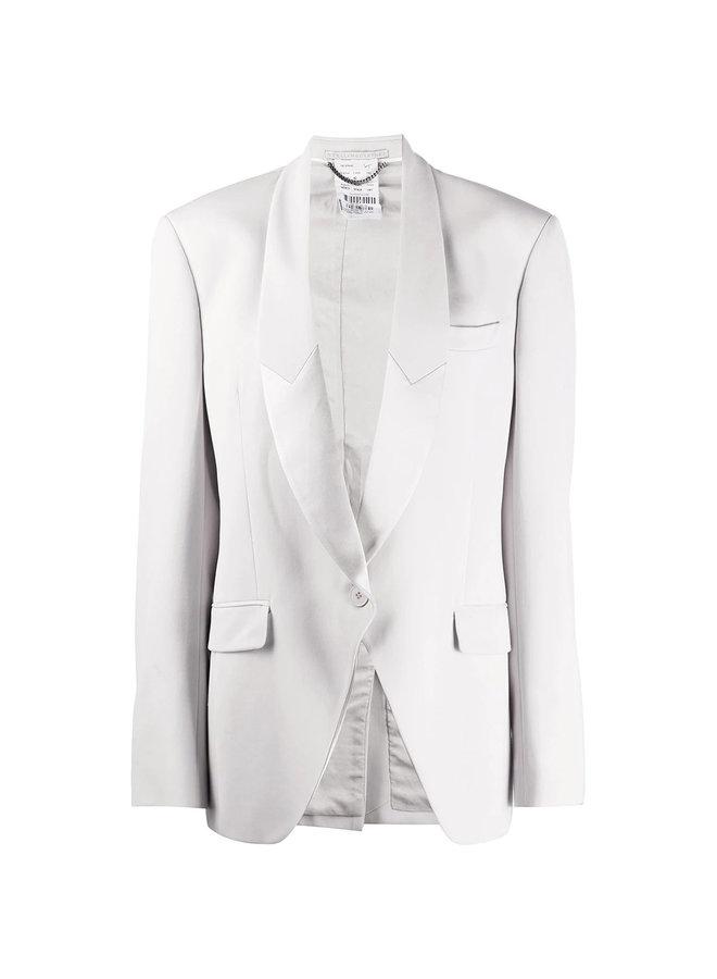 Single Breasted Blazer Jacket in Fog