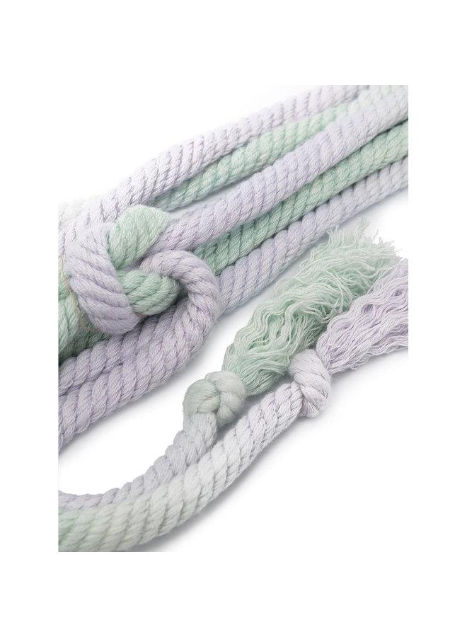 Rope Belt with Tassel Detail in Mint Green