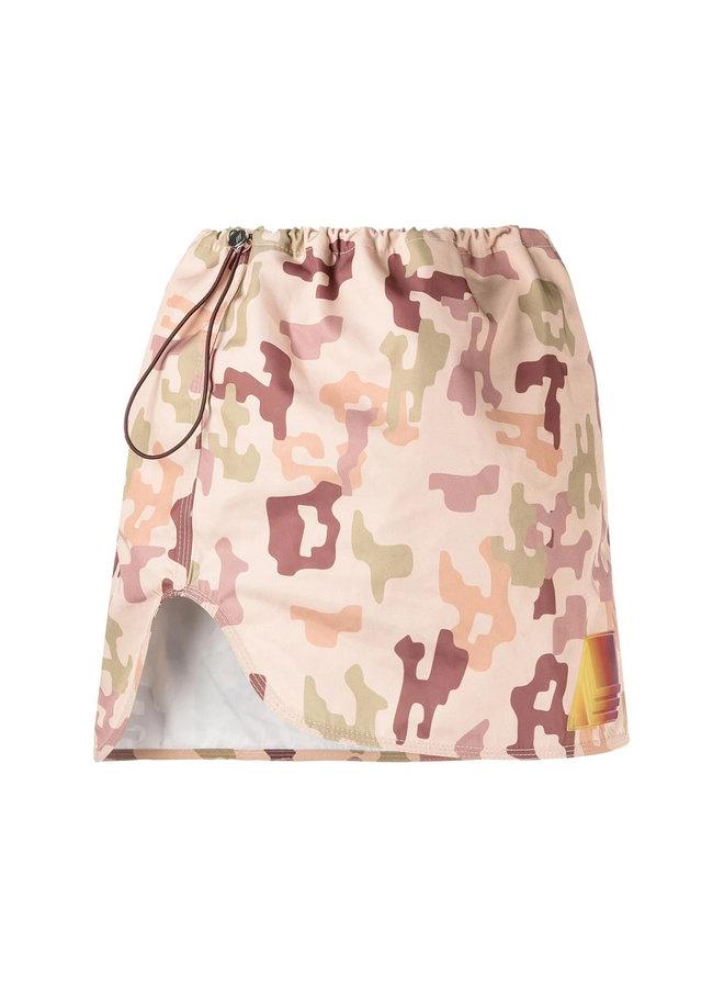 Mini Skirt Camouflage Print