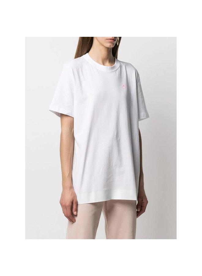Logo Crew Neck T-shirt in Organic Cotton in White