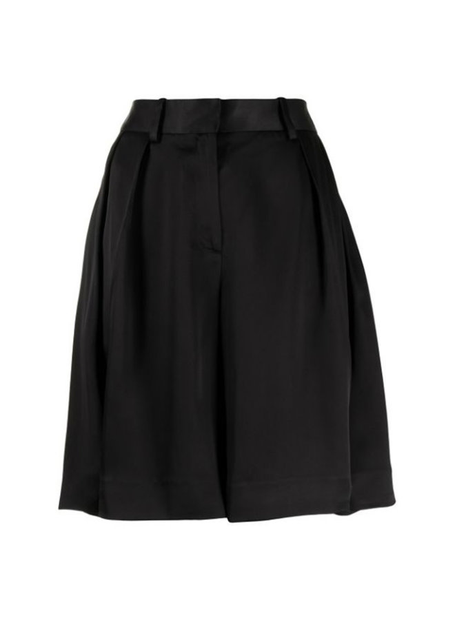 High Waisted Pleated Wide Leg Culotte