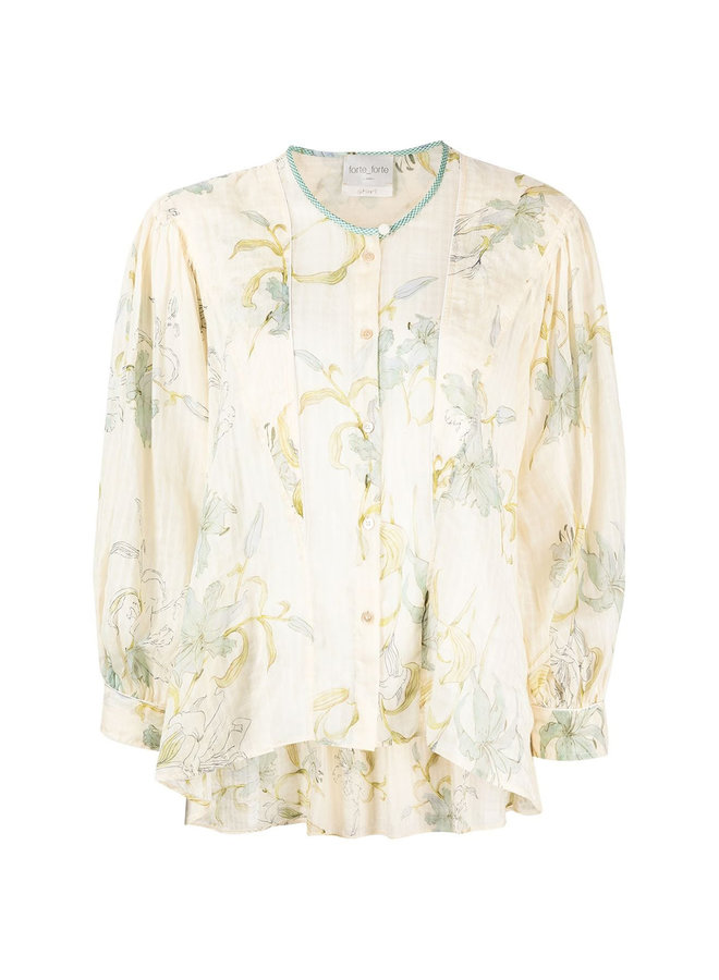 Long Sleeve Shirt in Printed Floral