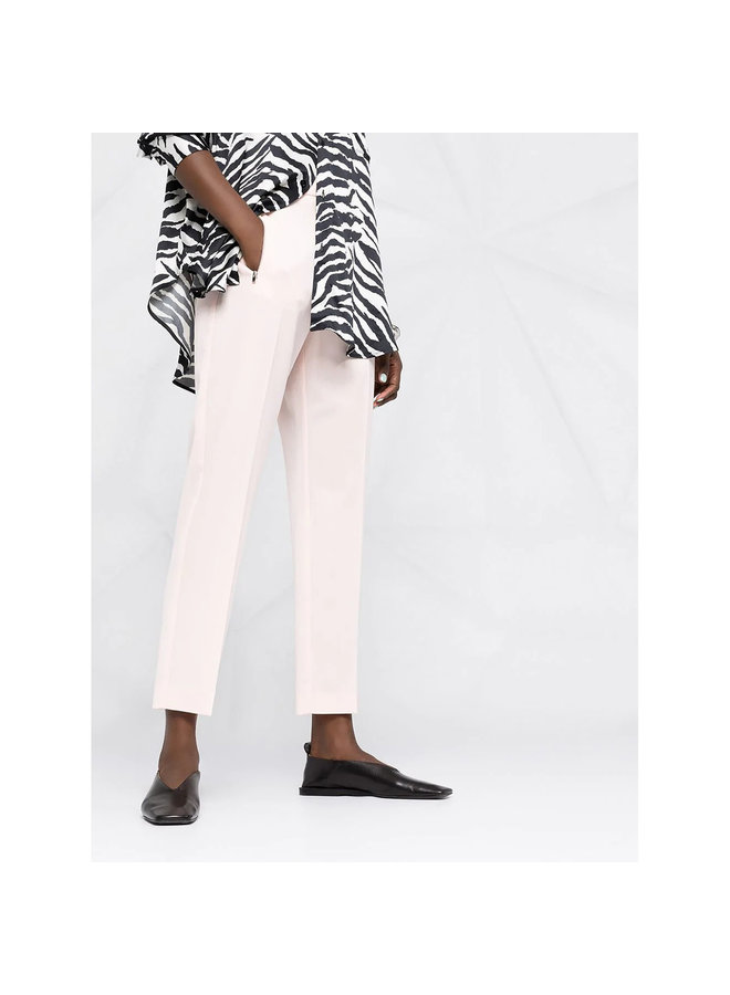 High Waisted Pants in  Cool Wool in Pale Pink