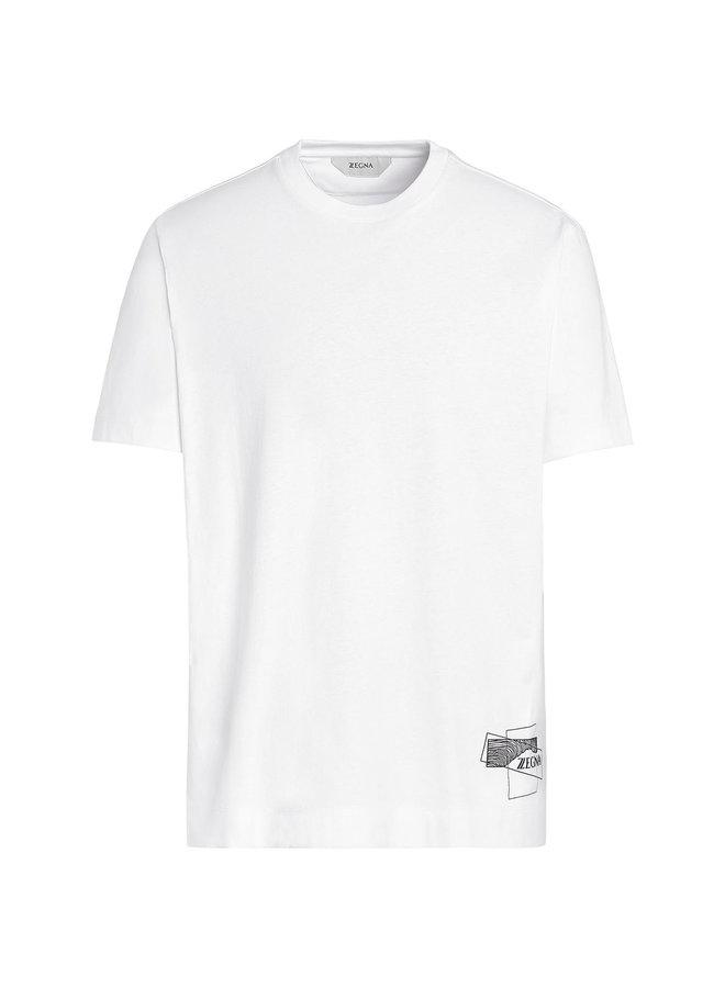 Z Zegna Crew Neck Printed T-shirt