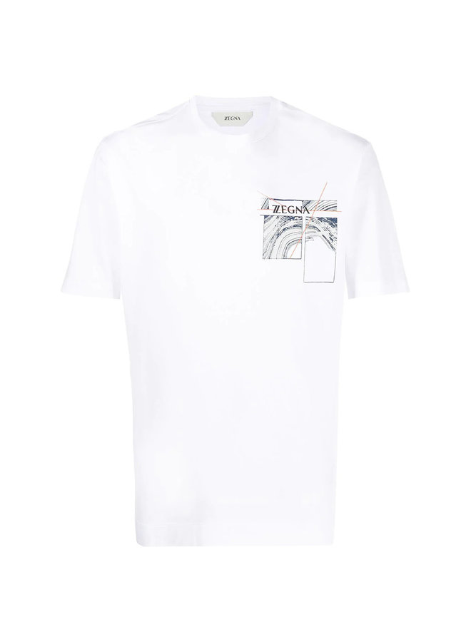 Z Zegna Crew Neck Graphic Print T-shirt