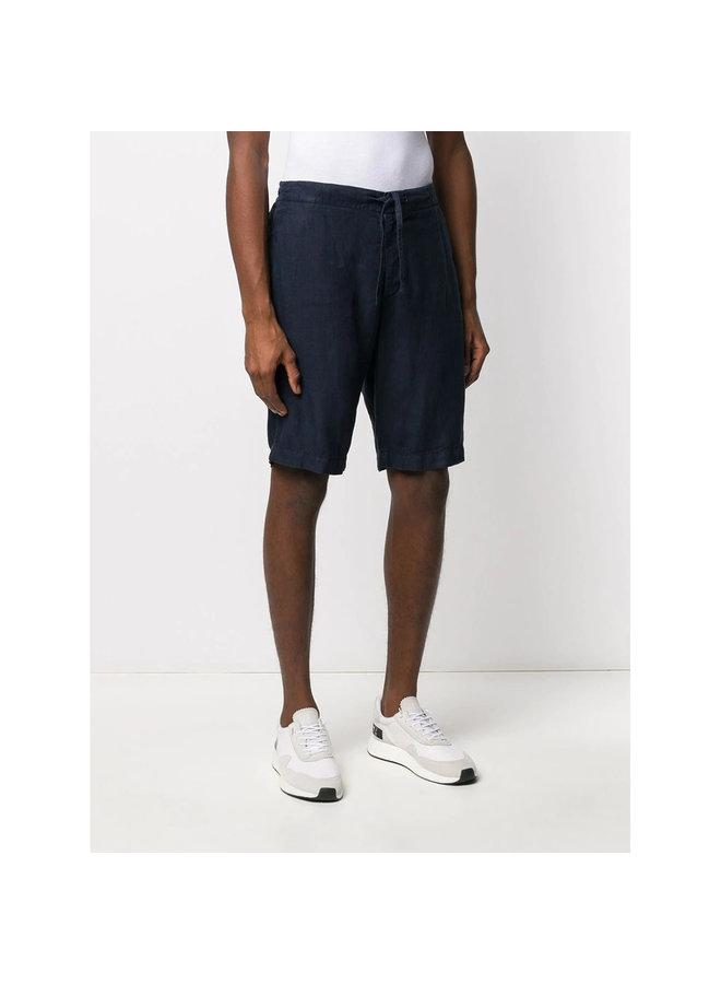 Z Zegna Bermuda Shorts in Linen in Navy