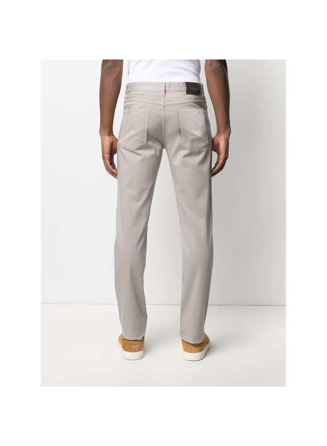 Z Zegna Slim Fit Jeans in Stretch Cotton in Light Grey