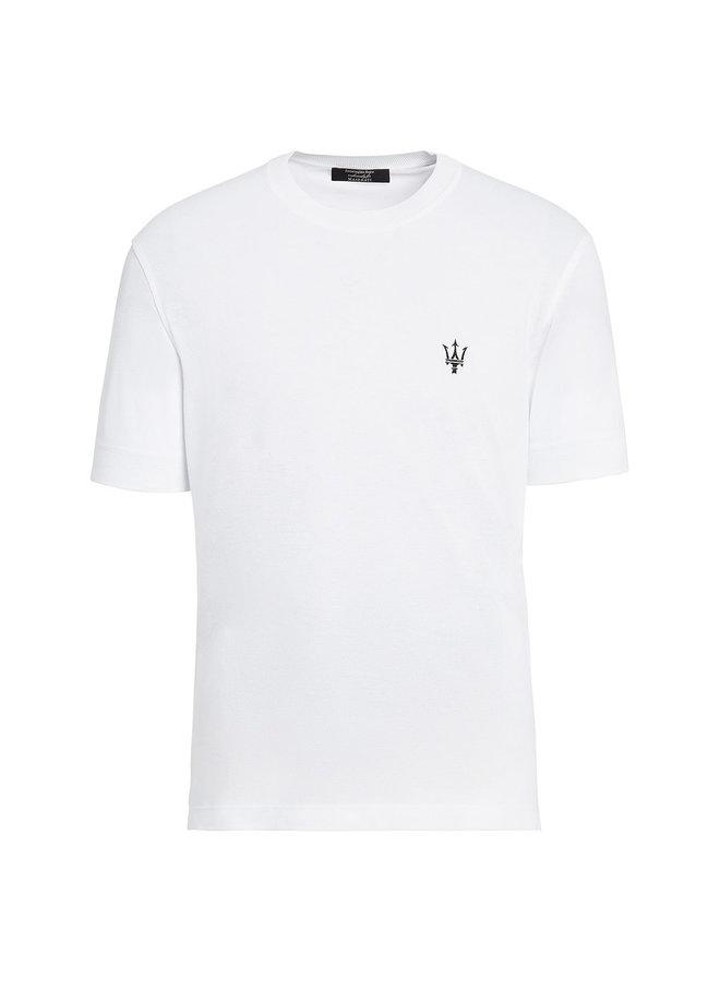 Ermenegildo Zegna Maserati Embroidered Logo T-shirt