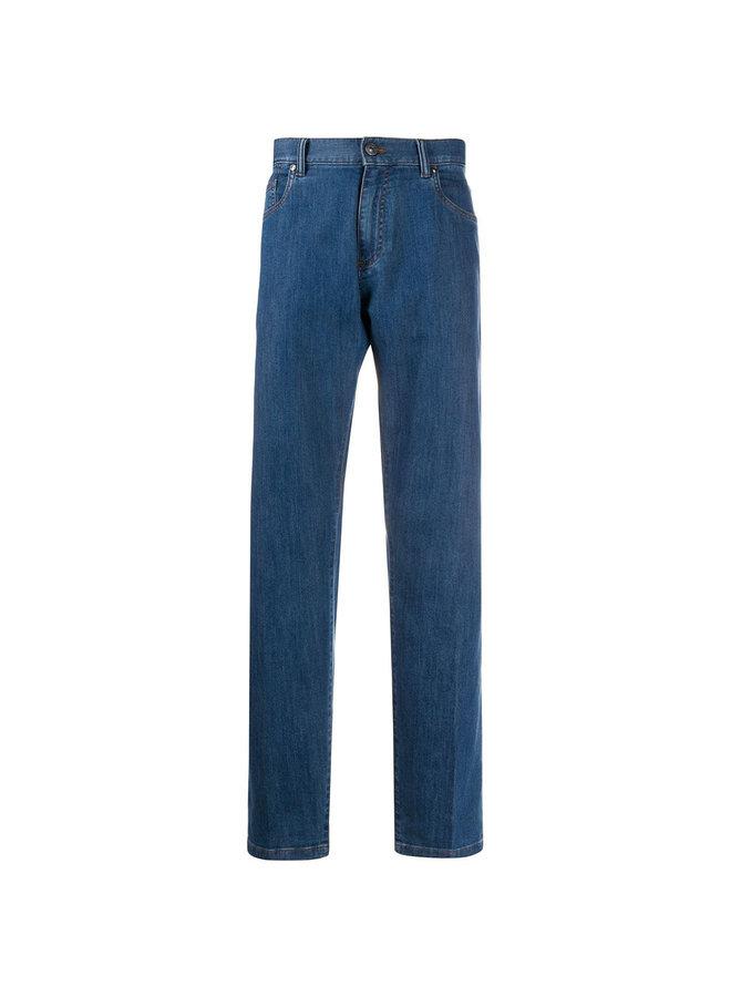 Ermenegildo Zegna Mid Rise Straight Leg Jeans
