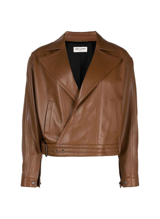 Oversized Biker Leather Jacket