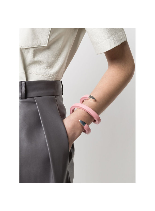 Wrap Around Bracelet in Leather in Blossom