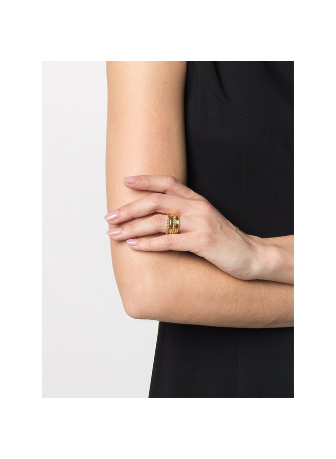 Five Ring Set in Yellow Gold