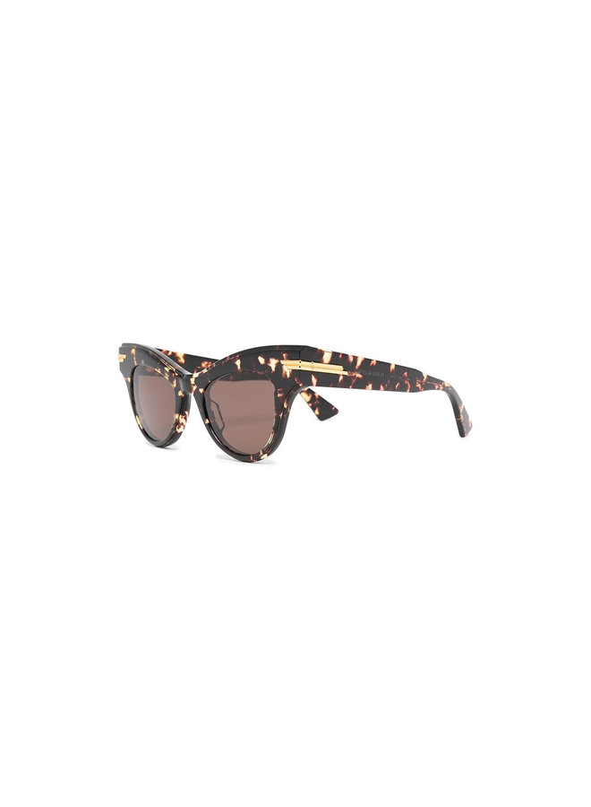 Cat Eye Eyewear in Acetate in Havana Brown