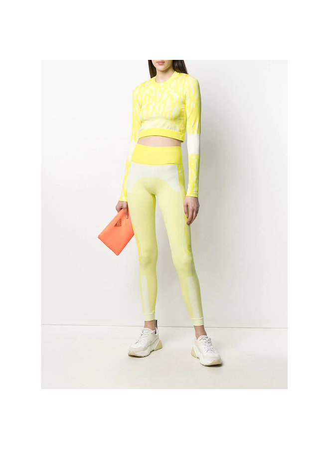 High Waisted Leggings in Neon Yellow