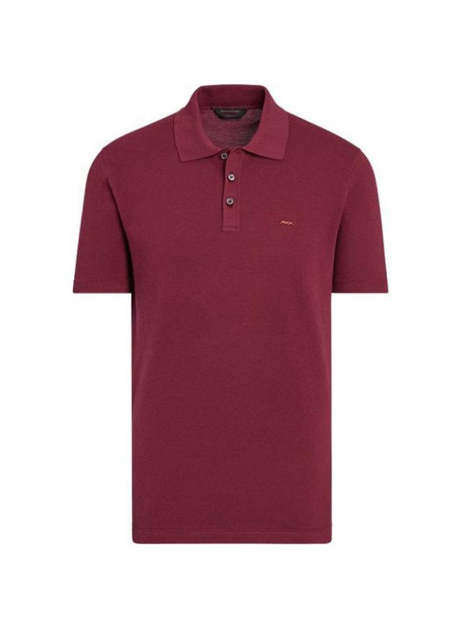 EZ Couture XXX Polo T-shirt in Cotton in Dark Pink