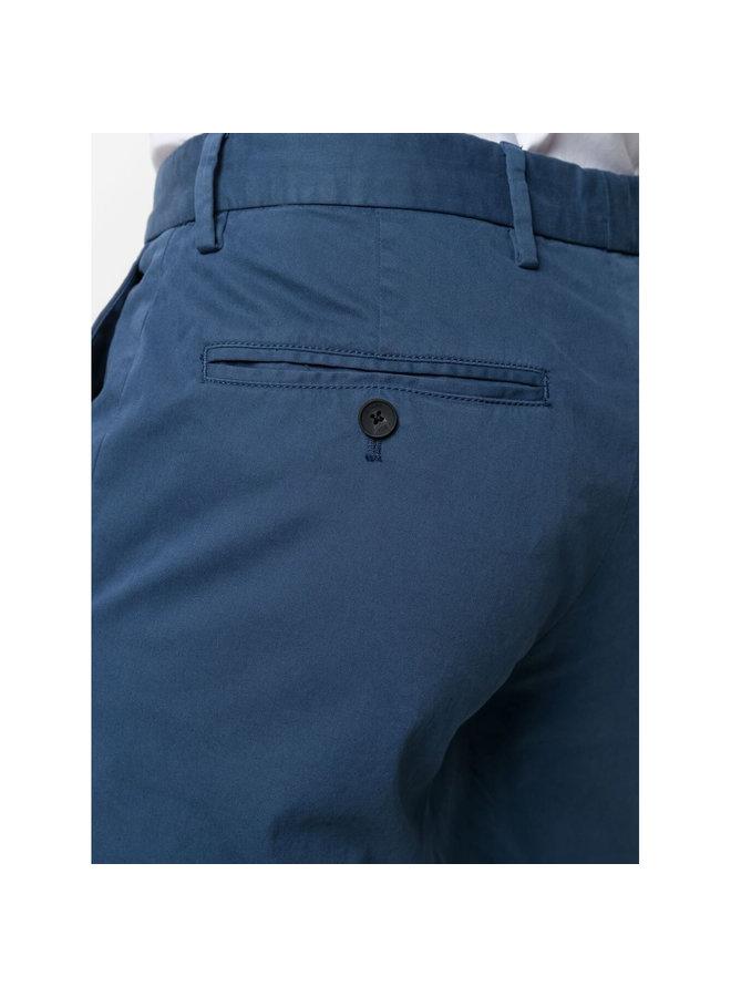 Z Zegna Slim Fit Pants in Cotton Stretch in Avio Blue