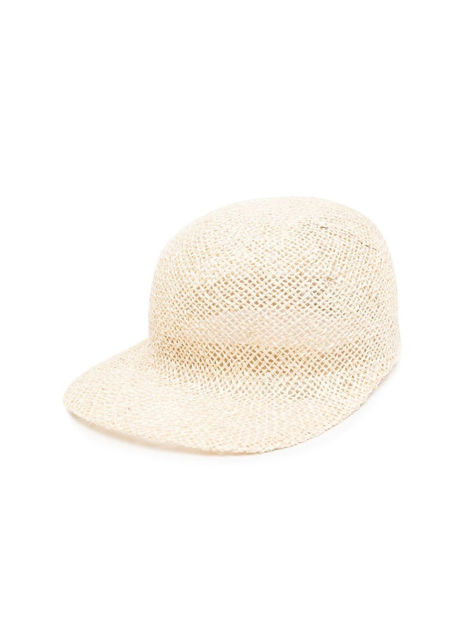 Baseball Cap in Woven Straw in Naturale