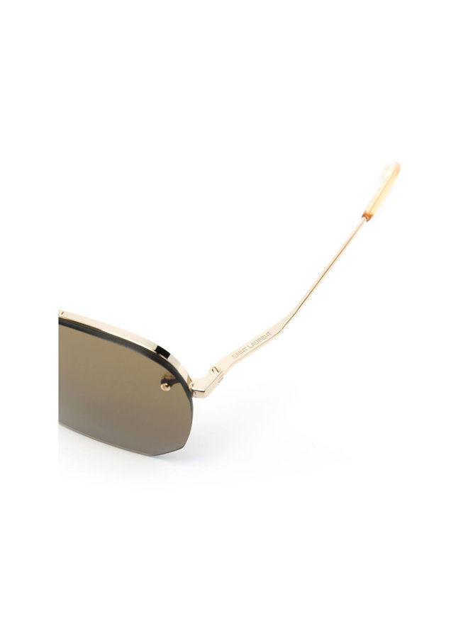 Aviator Frame Sunglasses in Gold