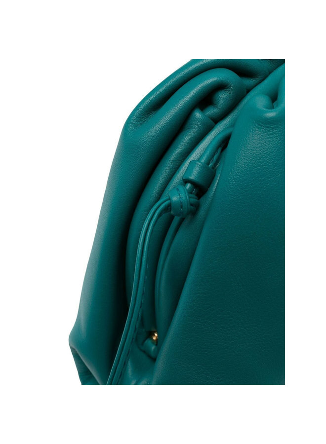 Mini Pouch Crossbody Bag in Leather in Mallard
