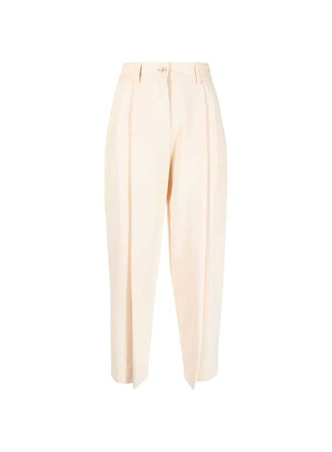 High Waisted Pants in Macadamia Brown